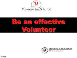 Be An Effective Volunteer Presentation (PPT 1.1 MB)