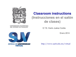 Classroom instructions - Universidad Autónoma del Estado de Hidalgo