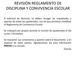 Revisión Plan Convivencia 2014