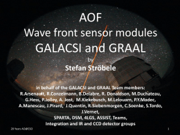 Stefan Ströbele in behalf of the GALACSI and GRAAL Team