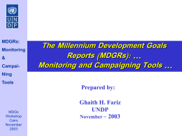 Monitoring and Campaigning Tool
