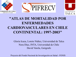 Atlas de Mortalidad por Enfermedades Cardiovasculares