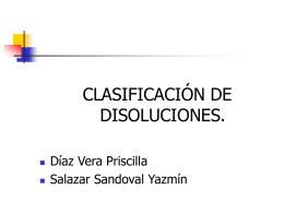 Clasificaci+¦n Disoluciones