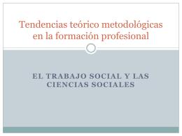 Tendencias teórico metodológicas en la formación profesional