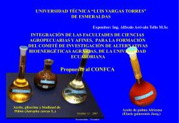 unificación de las facultades de ciencias agropecuarias y