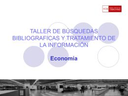 Economía (Segundo ciclo) - Universidad Complutense de Madrid