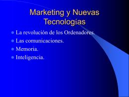 Marketing y Nuevas Tecnologías
