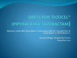 dress por tazocel® (piperacilina