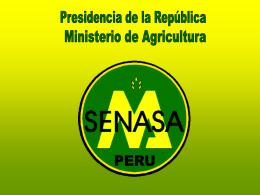 senasa - Congreso de la República del Perú