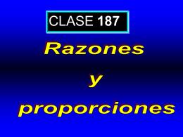 Clase 187: Razones y Proporciones