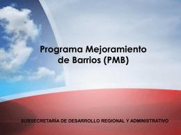 PMB - Subdere
