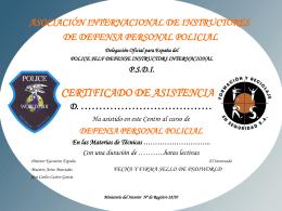 Formato actual del Diploma de Acreditacion y Capacitacion de los