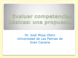 Competencias básicas y currículo integrado: la estructura de tareas