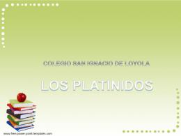 PRESENTACIÓN PLATINIDOS