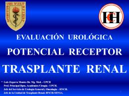 Trasplante Renal Sociedad Peruana de Nefrología, 2010