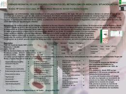 CRIBADO NEONATAL DE LOS ERRORES CONGÉNITOS DEL