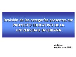 Presentacion del pro.. - Pontificia Universidad Javeriana, Cali