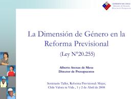 La Dimensión de Género en la Reforma Previsional