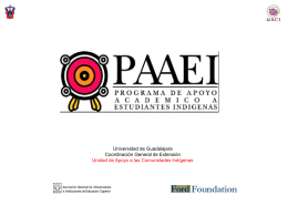 Presentación PAAEI - Universidad de Guadalajara