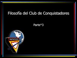 Filosofía del Club de Conquistadores