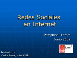 Presentación de Redes Sociales