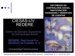 4 DIPLOMADO DE CONTRALORIA SOCIAL CIESAS