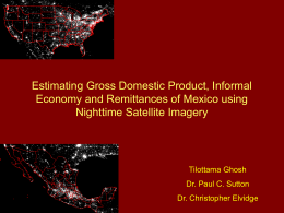 Estimating Gross Domestic Product, Informal Economy and