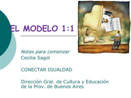 EL MODELO 1:1 - Presentación