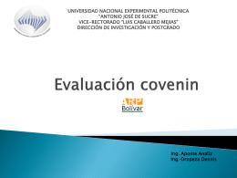 Evaluación covenin - UNEXPO-PRODUCCION-OCT-DIC-2010
