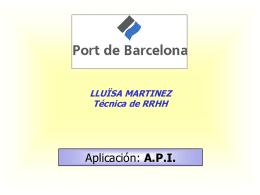 Autoritat Portuària de Barcelona (power point)