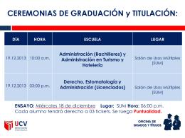 Cronograma de Ceremonias - UCV