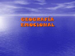 GEOGRAFÍA EMOCIONAL
