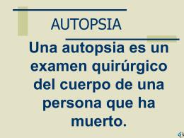 AUTOPSIA - Justicia Forense
