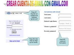 Creando Cuenta en Gmail