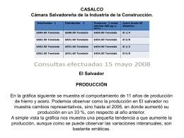 precio_acero_salvador - FIIC Federación Interamericana de la