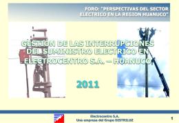 """foro: """"perspectivas del sector electrico en la region"""