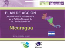 Nicaragua - Seminario de Políticas en TIC y Educación para