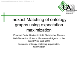 Inexact Matching of ontology graphs using expectation maximization