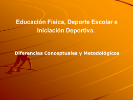 INICIACIÓN DEPORTIVA Y COMPETENCIAS MOTRICES