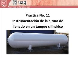 Instrumentación de un tanque cilíndrico.