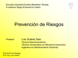 PPT Prevención de Riesgos