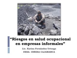 """""""Riesgos en salud ocupacional en empresas informales"""""""
