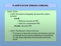 planificacion urbana comunal