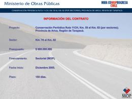 Conservación Periódica Ruta 11CH, Km. 59 al Km. 82 (por sectores)