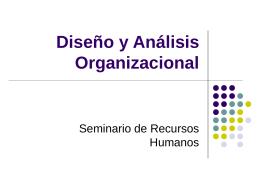 Diseño y Análisis Organizacional - RRHH-ESGC