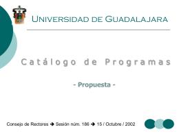 Catálogo de Programas - Consejo de Rectores