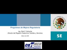 Los Programas de Mejora Regulatoria