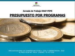 Presupuesto por Programas