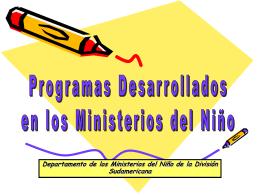 Programas dos Ministérios da Criança