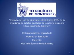 Perez - Cátedra de investigación e innovación en tecnología y